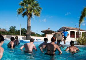 Réveil musculaire piscine Argelès-sur-Mer camping La Coste Rouge