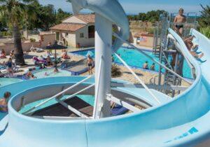 piscine toboggan Argelès-sur-Mer camping La Coste Rouge